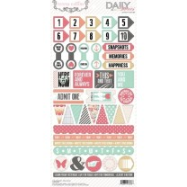 Лист наклеек Teresa Collins - Daily Stories Stickers, Decorative, 15*30 см