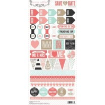 Лист наклеек Teresa Collins - Daily Stories Stickers, Save the Date, 15*30 см