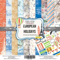 "Набор скрапбумаги ""European holidays"" 30*30 см, Фабрика Декору"