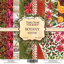 "Набор скрапбумаги ""Botanica winter"", 20*20 см, Фабрика Декору"