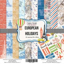 "Набор скрапбумаги ""European holidays"" 20*20 см, Фабрика Декору"