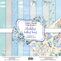 "Набор скрапбумаги ""Shabby baby boy redesign"" 30*30 см"