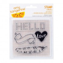 "Штамп акриловый Amy Tangerine Day Dream Acrylic Stamps 4""X4"""